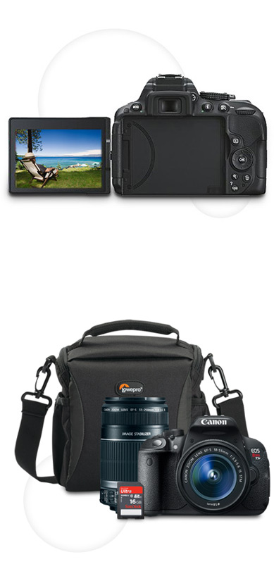 Camera with articulated LCD