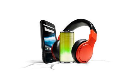HTC Smartphone, battery, headphones