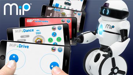 Robot and smartphones