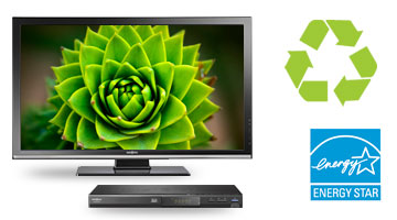 TV, recycling symbol, Energy Star