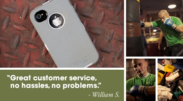OtterBox case. Great customer service. No hassles, no problems. William S.