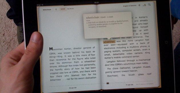 iBooks dictionary