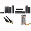 Sony - Bundle BDVN790W Blu-ray Home Theater System 1000w Wireless Speakers w/ HookUp