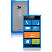 CrazyOnDigital - Hybrid Soft And Hard Case for Nokia Lumia 900 - Blue