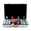 Trademark Global - Trademark Poker 650 Chips 115g Hold Em Poker Set with Executive Aluminum Case