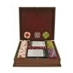 Trademark Global - 100 Chips Top Hat & Cane Clay Poker Set with Wooden Case