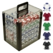 Trademark Global - Trademark Poker 1000 Chips 115 g Lucky Crown Poker Set in Acrylic Carrier