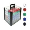 Trademark Global - Trademark Poker 1000 Chips 115g Suited Design Poker Set in Acrylic Carrier