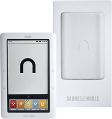 Barnes and Noble - 6 inch NOOK WiFi eReader Model BNRV100 - White/White