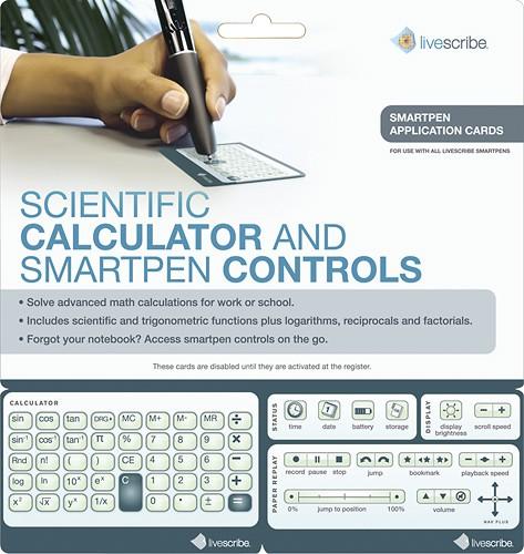 Livescribe - Livescribe Quick Control Calculator Cards