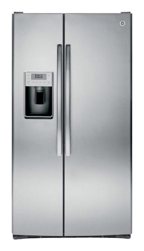 GE - Profile Series 28.4 Cu. Ft. Side-by-Side Refrigerator with Thru-the-Door Ice and Water - Stainless Steel (Silver)