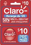 Claro - $10 Prepaid Phone Card