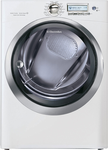 Electrolux - 8.0 Cu. Ft. 65-Cycle Electric Dryer with Steam - Island White