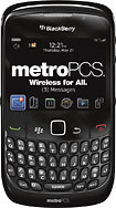 MetroPCS - BlackBerry Curve 8530 Mobile Phone - Black