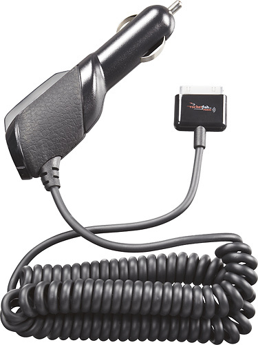 Rocketfish™ - Premium Vehicle Charger for Apple iPad®, iPhone® and iPod® - Black