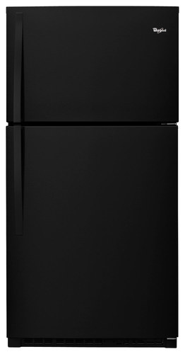 Whirlpool - 21.3 Cu. Ft. Top-Freezer Refrigerator - Black