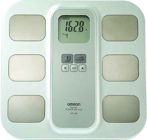 Omron - Fat Loss Monitor with Scale - White