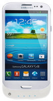 Lenmar - Pulsar Battery Case for Samsung Galaxy S III Mobile Phones - Glossy White