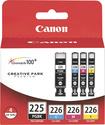 Canon - PGI-225/CLI-226 ChromaLife100+ Ink Tank 4-Pack - Black/Cyan/Magenta/Yellow