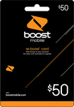 Boost Mobile - Re-Boost $50 Prepaid Wireless Airtime Card