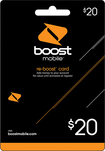 Boost Mobile - Re-Boost $20 Prepaid Wireless Airtime Card