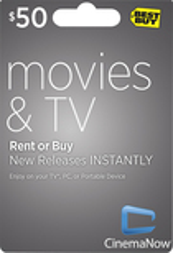 CinemaNow - $50 Movie Download Card