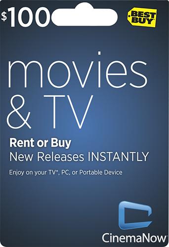 CinemaNow - $100 Movie Download Card