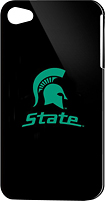 Tribeca - Michigan State Hard Shell Case for Apple iPhone 4 - Black