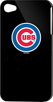 Tribeca - Chicago Cubs Hard Shell Case for Apple iPhone 4 - Black
