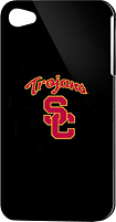 Tribeca - University of Southern California Hard Shell Case for Apple iPhone 4 - Black