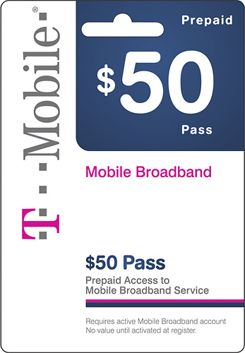 T-Mobile $50 Prepaid Broadband card