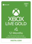 Microsoft - Xbox LIVE 12-Month Gold Membership (Downloadable Content)