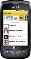 LG - Optimus S Mobile Phone - Charcoal (Sprint)