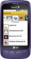 LG - Optimus S Mobile Phone - Purple (Sprint)