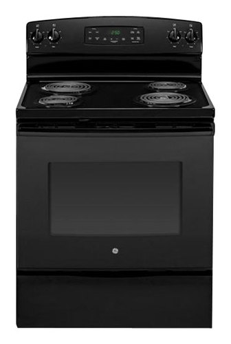 GE - 30 Self-Cleaning Freestanding Electric Range - Black