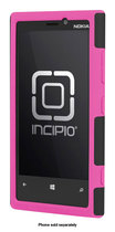 Incipio - DualPro Case for Nokia Lumia 920 Mobile Phones - Black/Neon Pink