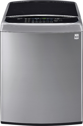 LG - 4.9 Cu. Ft. 12-Cycle High-Efficiency Top-Loading Washer - Graphite Steel