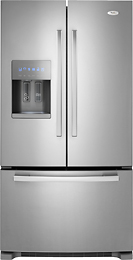 Whirlpool Gi6farxxy Gold 25.5 Cu. Ft. French Door Refrigerator with Thru-the-Door Ice and Water - Stainless-Steel  Model: Gi6farxxy 