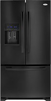 Whirlpool - 255 Cu Ft French Door Refrigerator with Thru-the-Door Ice and Water - Black