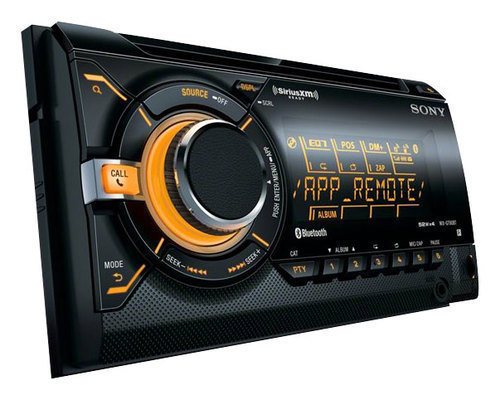 Sony - CD - Built-in Bluetooth - Apple® iPod®- and Satellite Radio-Ready - In-Dash Receiver - Black