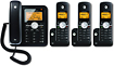 Motorola - DECT 60 Expandable Corded/Cordless Phone System with Digital Answering System