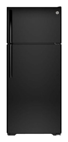 GE - 17.5 Cu. Ft. Frost-Free Top-Freezer Refrigerator - Black