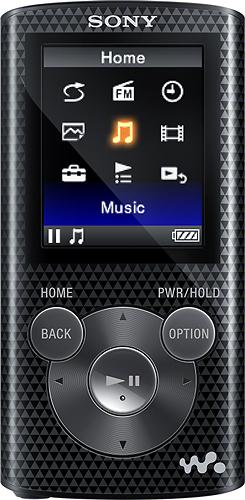 Sony - NWZ-E380 Series Walkman 8GB* Video MP3 Player - Black