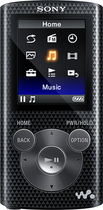 Sony - NWZ-E380 Series Walkman 16GB* Video MP3 Player - Black