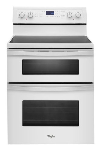 Whirlpool - 30 Self-Cleaning Freestanding Double Oven Electric Range - White