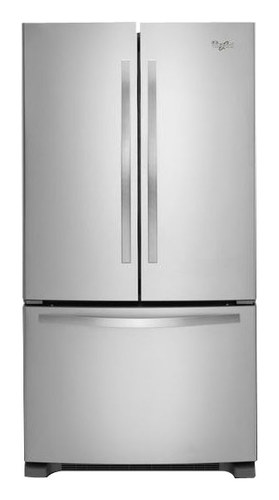 Whirlpool - 21.7 Cu. Ft. French Door Refrigerator - Stainless Steel (Silver)