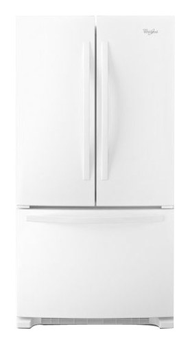 Whirlpool - 21.7 Cu. Ft. French Door Refrigerator - White-on-White