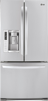 LG - 249 Cu Ft French Door Refrigerator with Thru-the-Door Ice and Water - Stainless-Steel