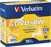 Buy Cases  - Verbatim 10-Pack 4x DVD+RW Discs with Slim Cases