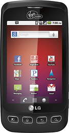 LG Optimus V Prepaid Virgin Mobile Phone (black) $64.99